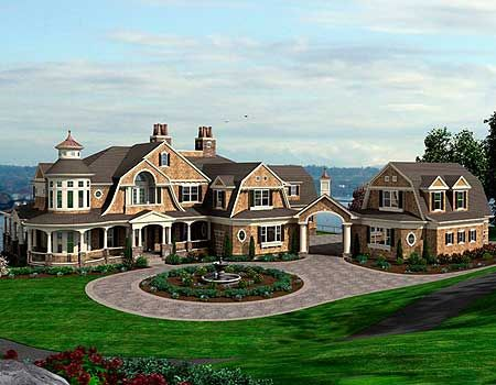 Luxurious Shingle Style Home Plan Shingle Style Homes Craftsman House Plans Craftsman House