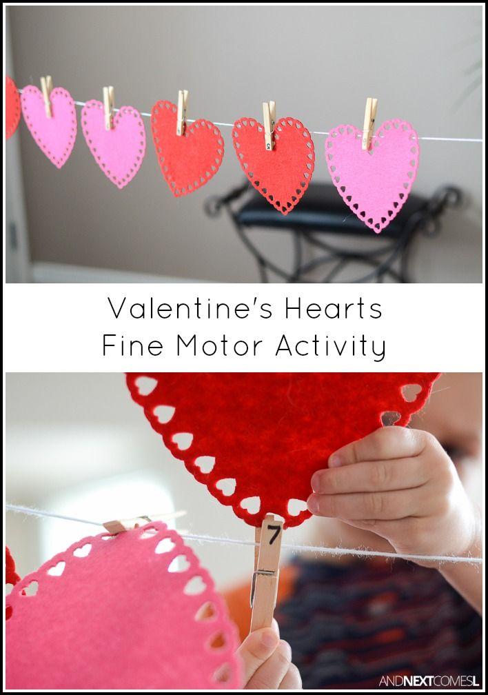 Valentine S Day Fine Motor Activity Valentine Crafts For Kids Valentines Day Activities Valentine Activities