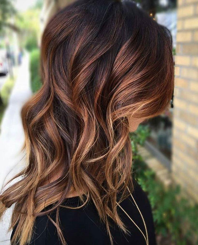Stunning fall hair colors ideas for brunettes hair
