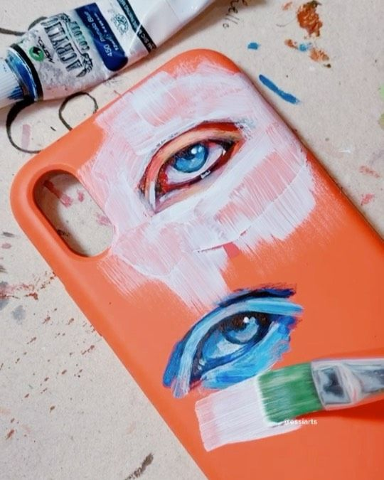 "𝓮𝓼𝓽𝓱𝓮𝓻 on Instagram: ""hi i painted my phone case that's it eyes inspired by @emilio_villalba !!!!!!! song: lalala by Y2K & bbno$"" – phone CASE"