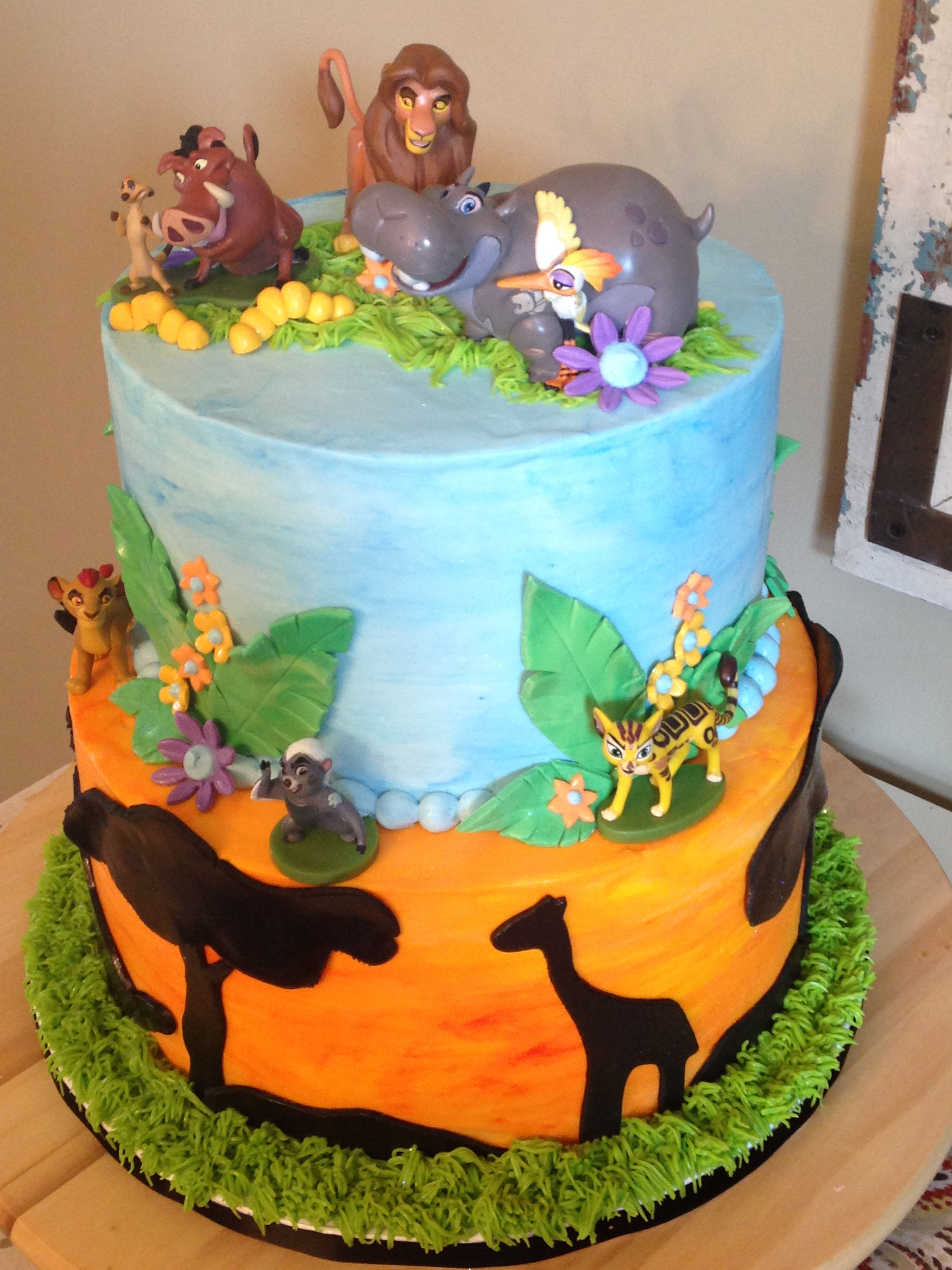 Lion Guard cake Isaiah bday Pinterest Lions Birthdays and