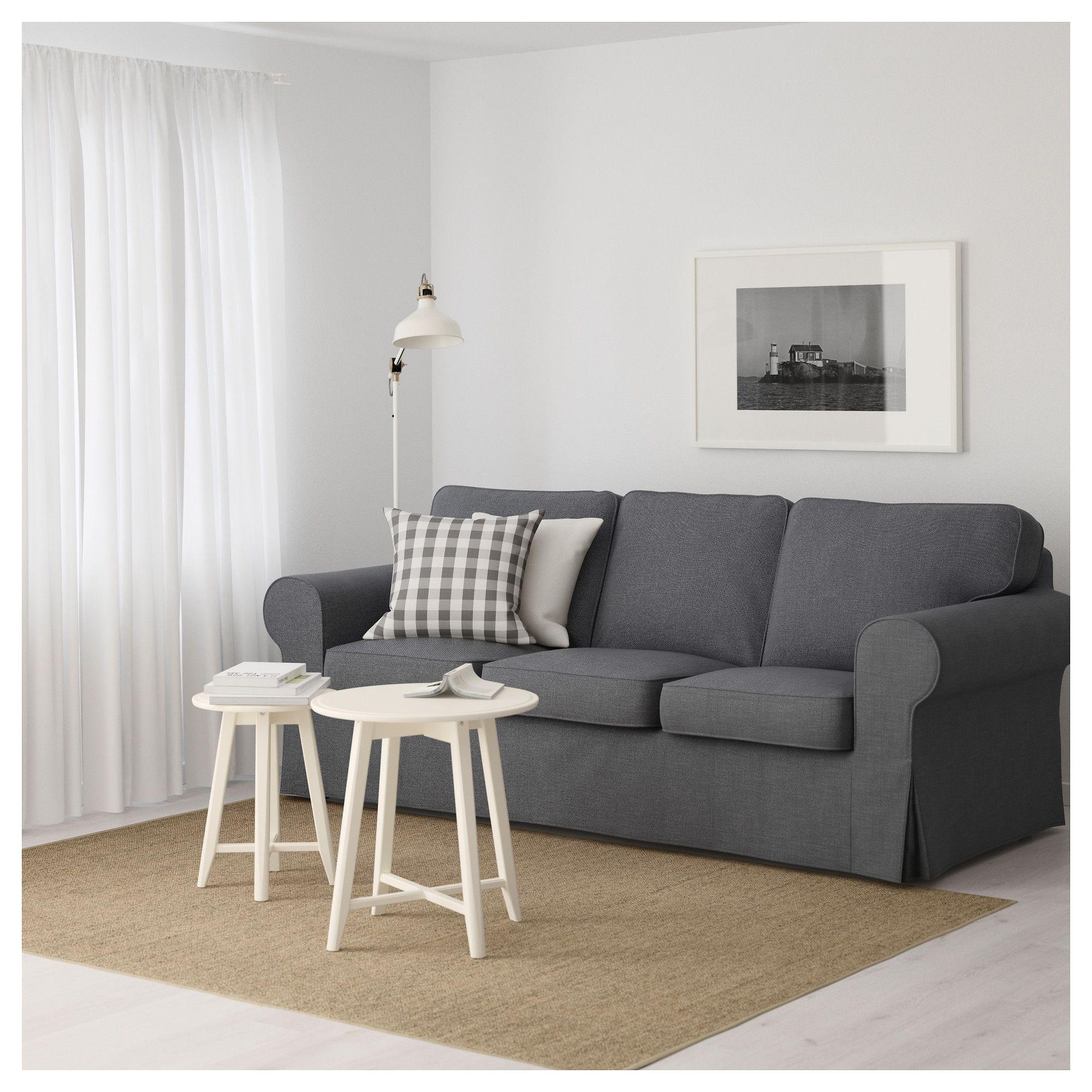EKTORP Three seat sofa Nordvalla dark grey