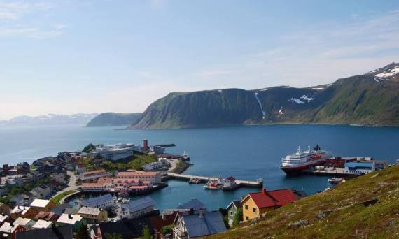 หม บ าน Honningsvag ประเทศนอร เวย ค ะ Honningsvag Norway