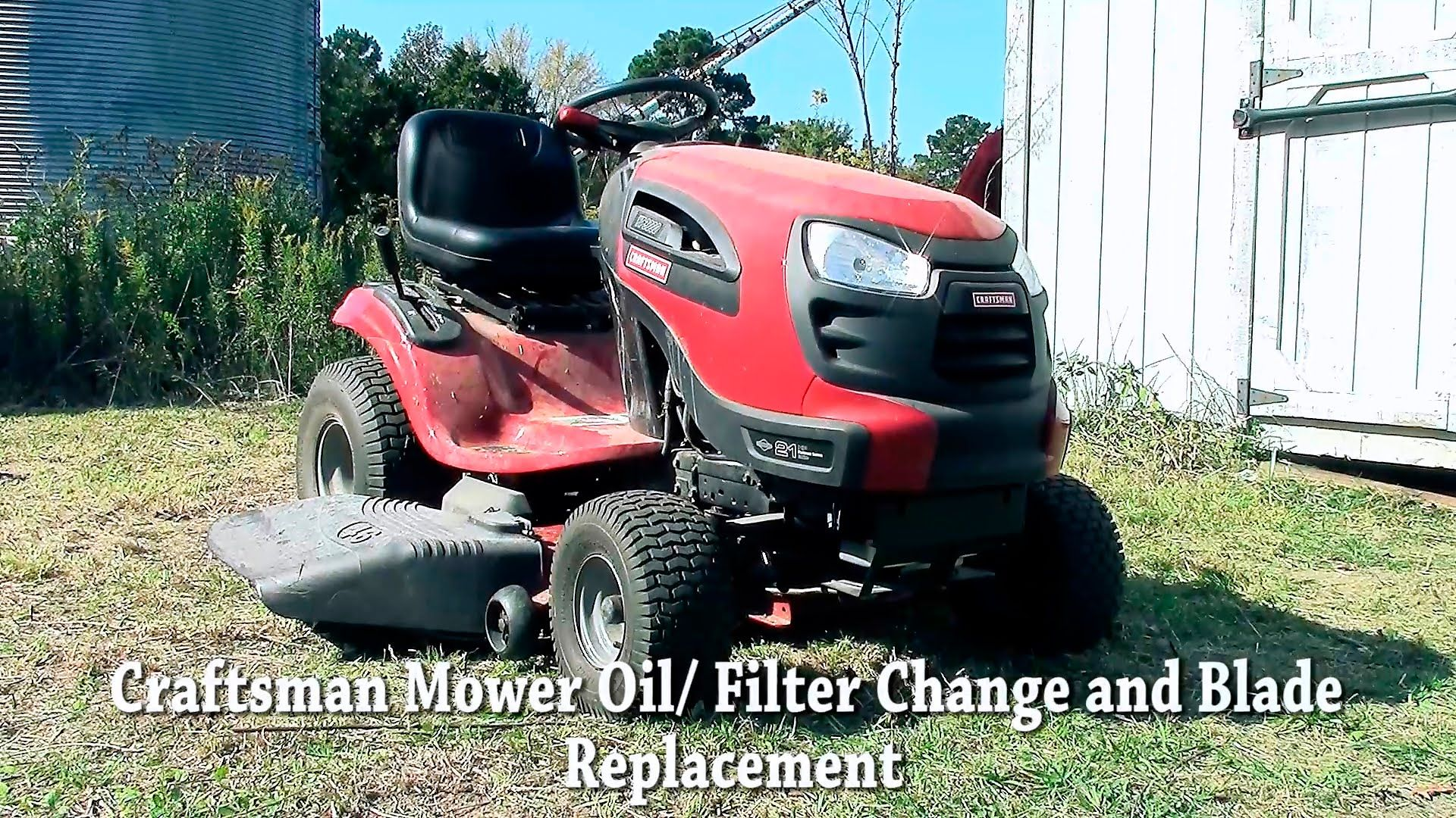 riding mower oil filter change and blade replacement. Black Bedroom Furniture Sets. Home Design Ideas