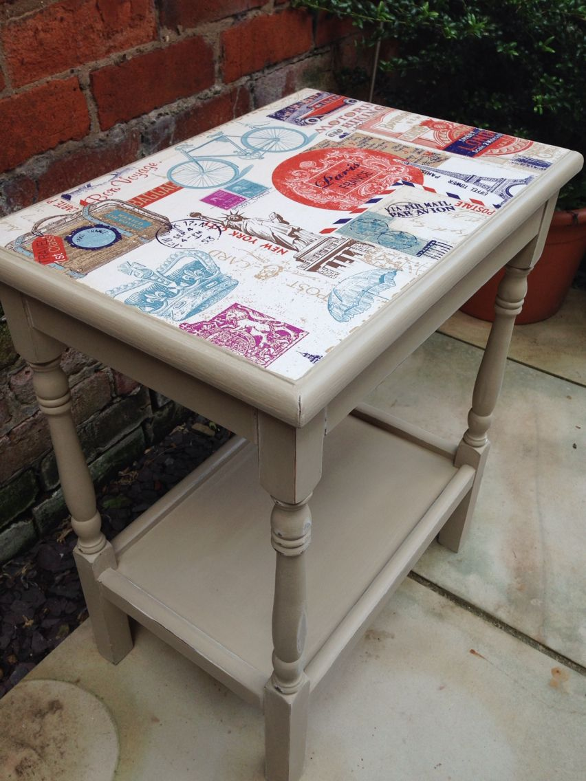 Transformed car boot find hand painted using Annie Sloan Country