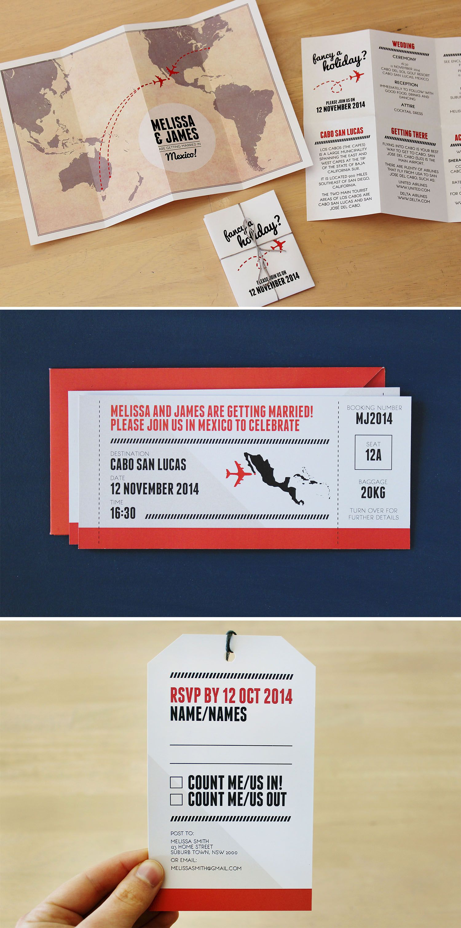 Diy Printable Stationery Set For A Destination Wedding Includes Map