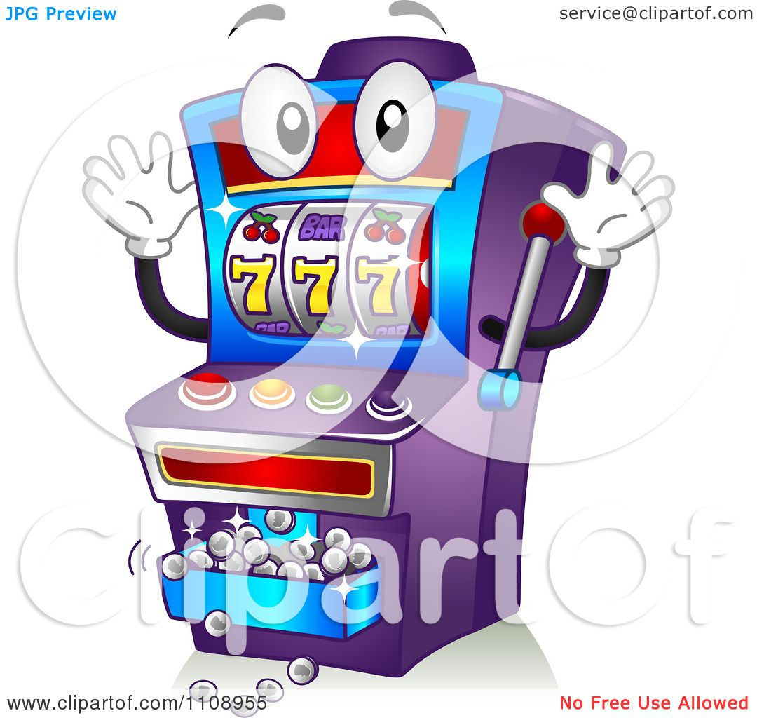 Casino Slot Machines Coloring Page Clipart Happy Jackpot
