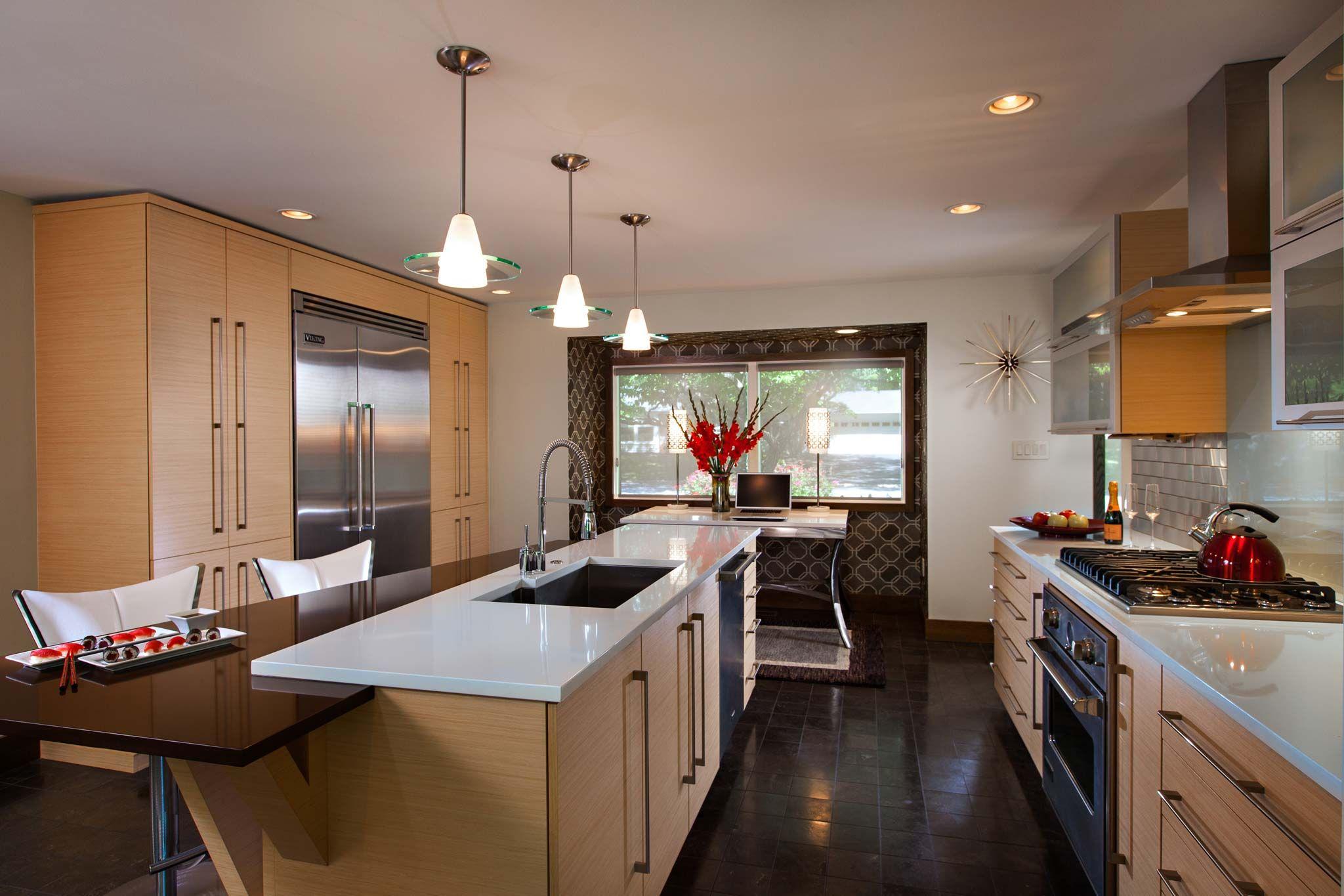 CampHillPAGalleyKitchenRemodelw Warm Modern Kitchen