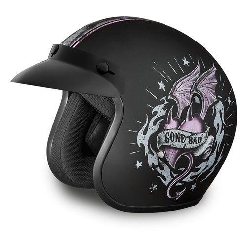 Ladies Motorcycle Helmets Good Girl Gone Bad Daytona
