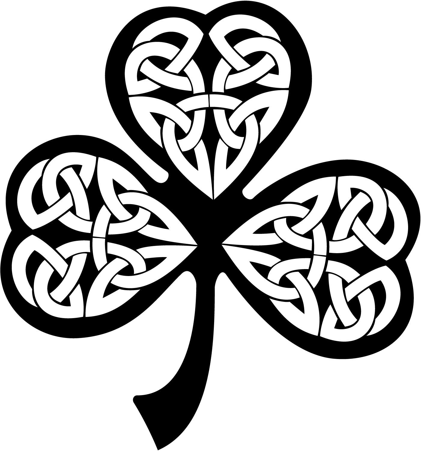 Clover Celtic Knot Decal Sticker You Pick Color