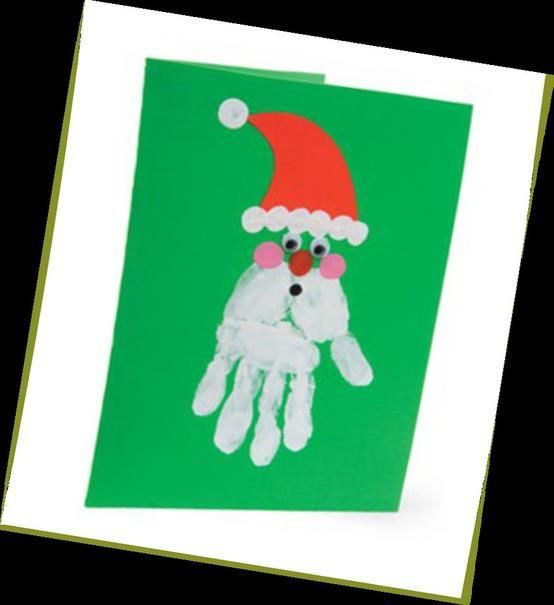 Classroom Inspiration Handprint Christmas Cards Toddler