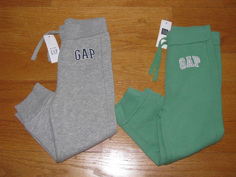 Baby GAP Boy Fleece Logo Pants Jogger Sweat Pants Green Size 3T 3 Years