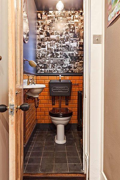 Thomas Crapper Toilet Under Stairs Retro Aesthetic Brick