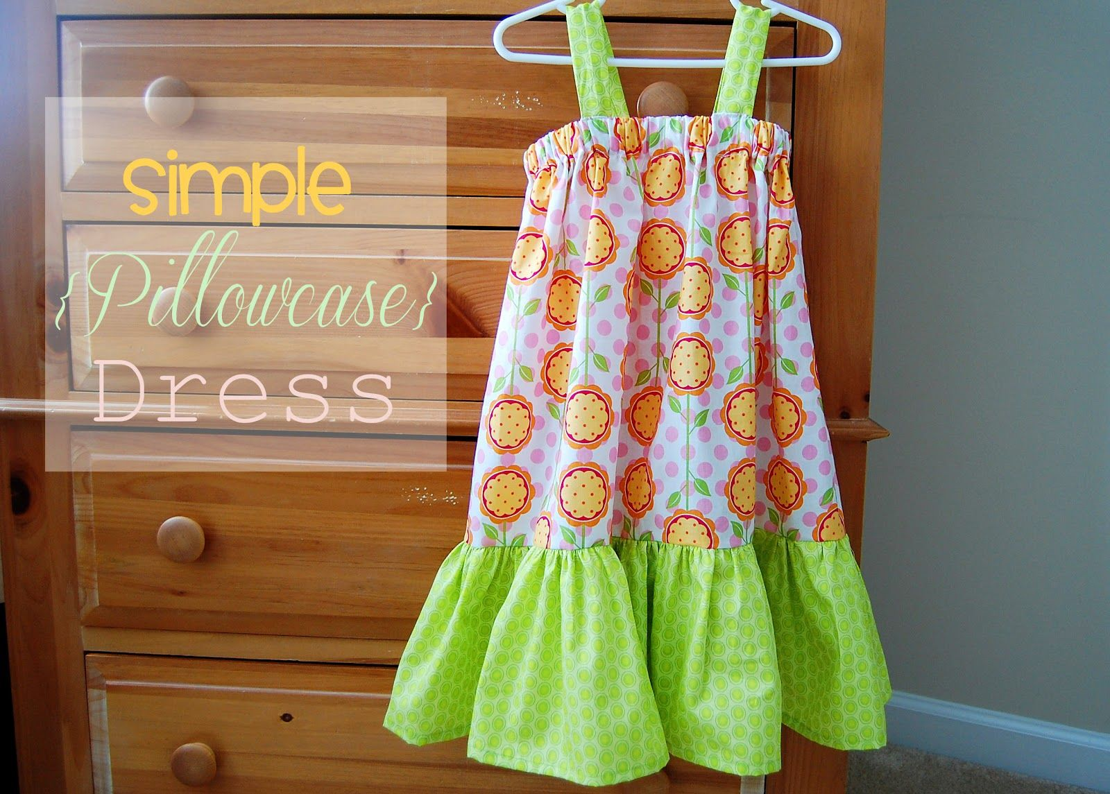 Sewing ideas & Southern Lovely: Simple Pillowcase Dress with elastic and no arm ... pillowsntoast.com