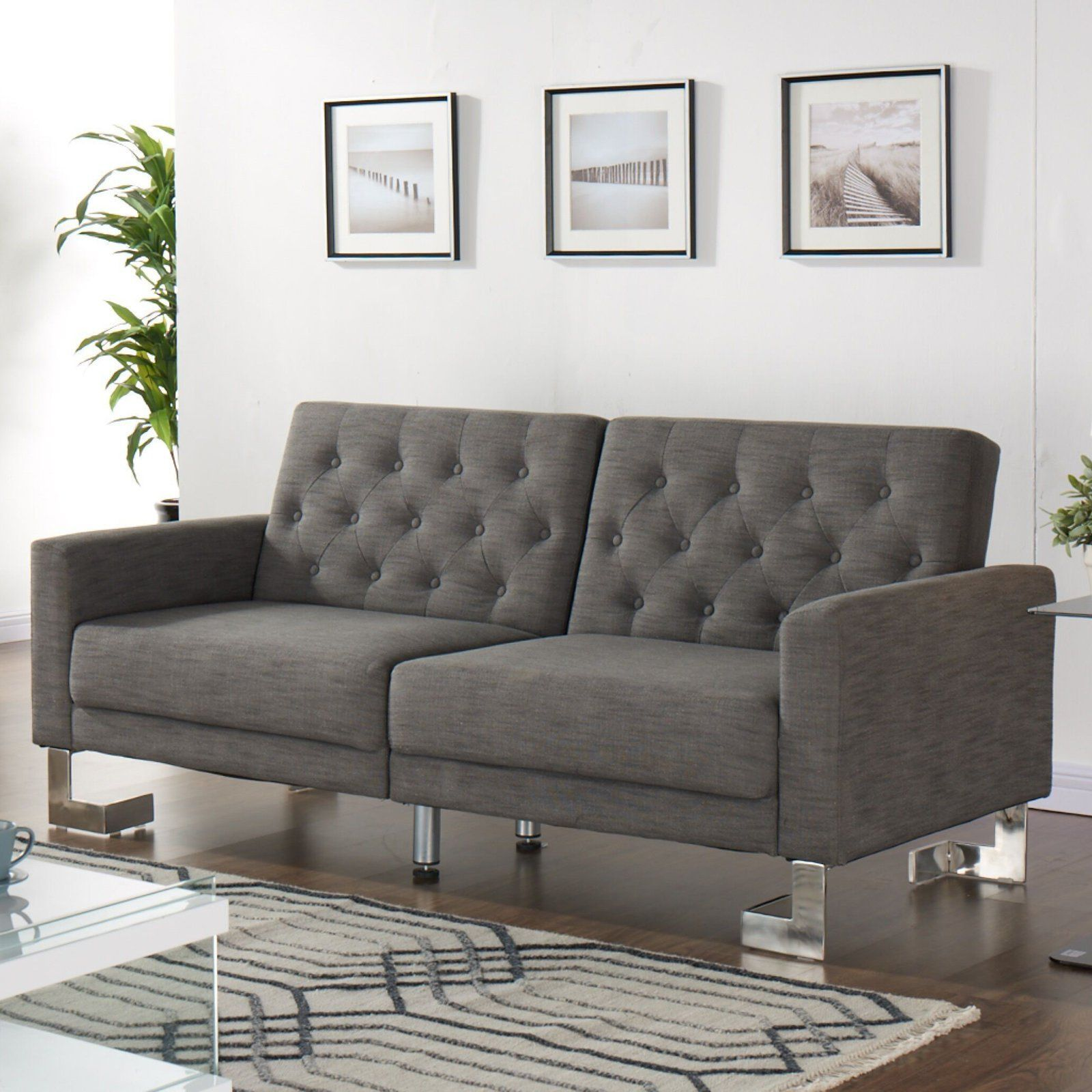 Casabianca Furniture MARINO Collection Gray Fabric Sofa Bed by