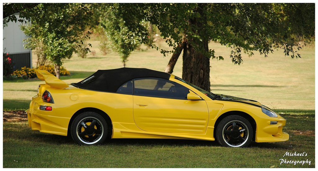 A Yellow Mitsubishi Eclipse Spyder Gt By Theman268 On Deviantart Mitsubishi Eclipse Spyder Mitsubishi Eclipse Mitsubishi