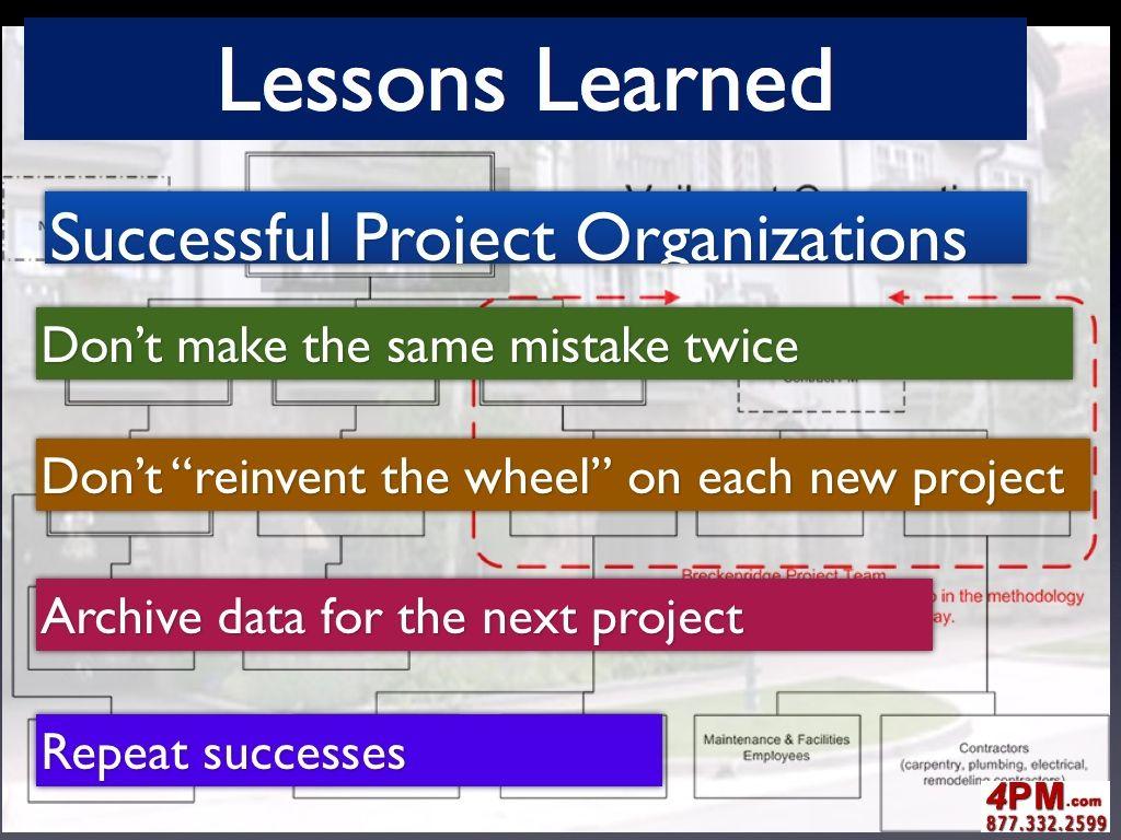 Project Lessons Learned  Project Lessons Learned  Encylamation
