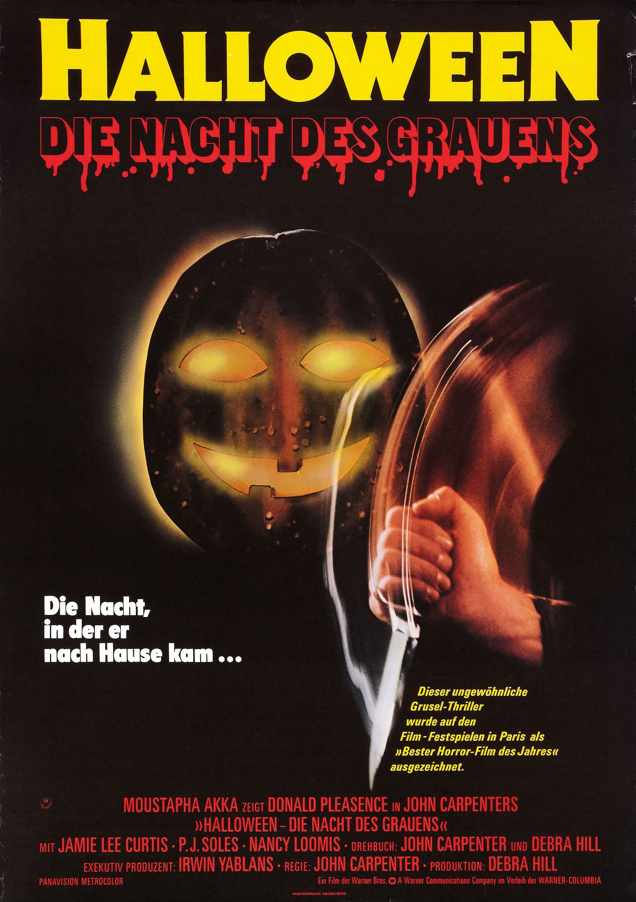 Halloween, 1978 German poster Halloween movie poster