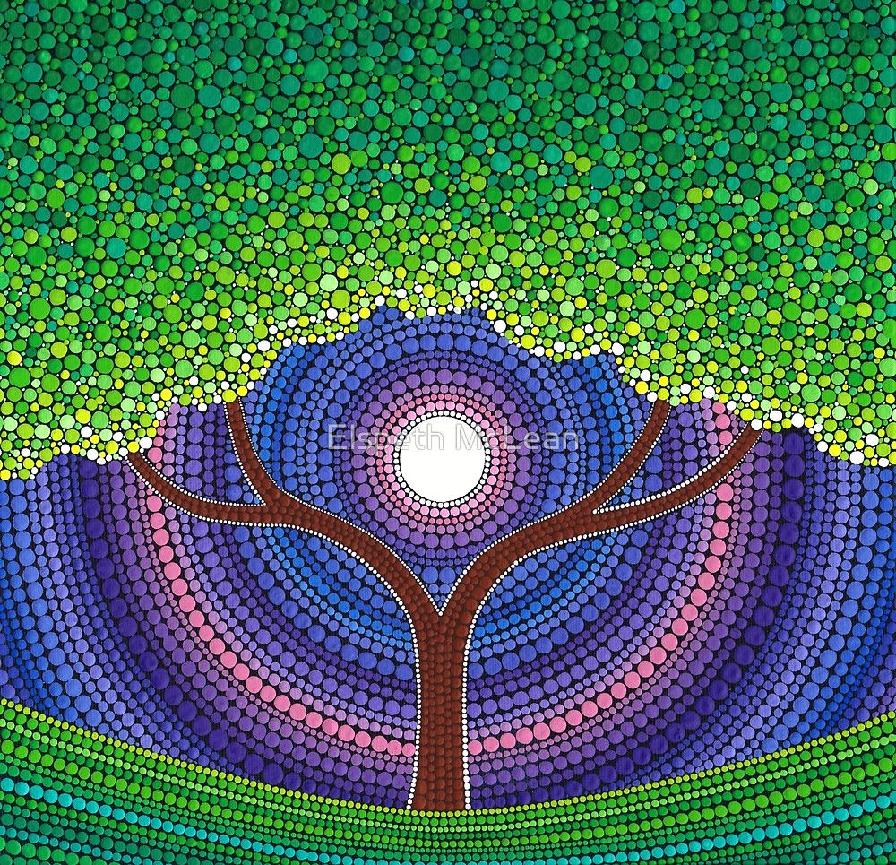 Happy Tree Of Life By Elspeth Mclean Crafts Dot Art Painting