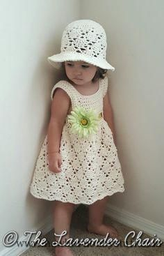 Crochet Baby Dress Vintage Toddler Hat (and dress) - Free Crochet Pattern - The...