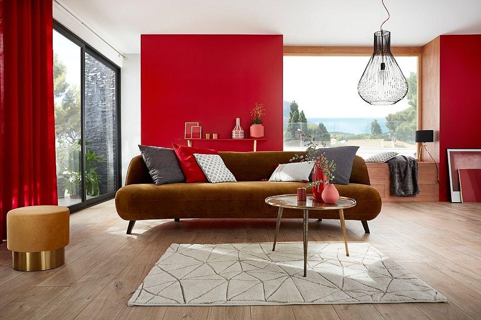 Le Rouge Fait Son Show Peinture Murale Rideaux Coussins