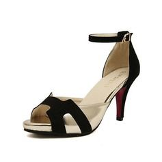 Shoes - $29.99 - Leatherette Stiletto Heel Sandals Peep Toe With Buckle shoes  http://www.dressfirst.com/Leatherette-Stiletto-Heel-Sandals-Peep-Toe-With-Buckle-Shoes-087050823-g50823