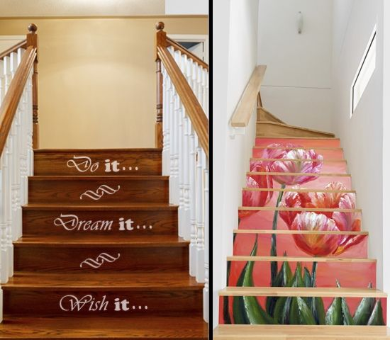 21 Attractive Painted Stairs Ideas Pictures: 7 Alternatives To Carpets On Stairs That Are Really