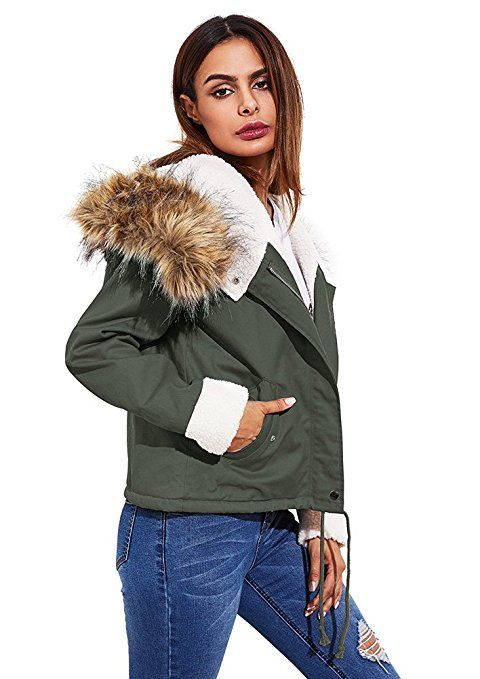 designer fashion 69ab6 b01c6 Minetom Damen Warm Verdicken Winterjacke Mantel Mit Plüsch ...