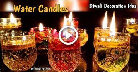 Diwali Dekoration Ideen | Wasserkerzen | DIY | Diwali Dekoration zu Hause #candlesdecorationh...