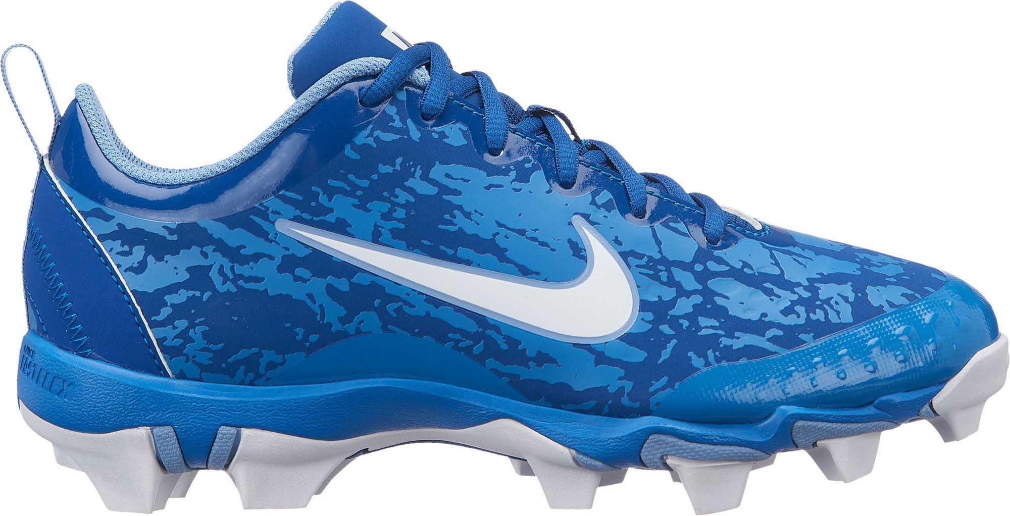 Nike Kids Hyperdiamond 2 5 Keystone Baseball Cleats Blue Baseball Cleats Nike Kids Cleats