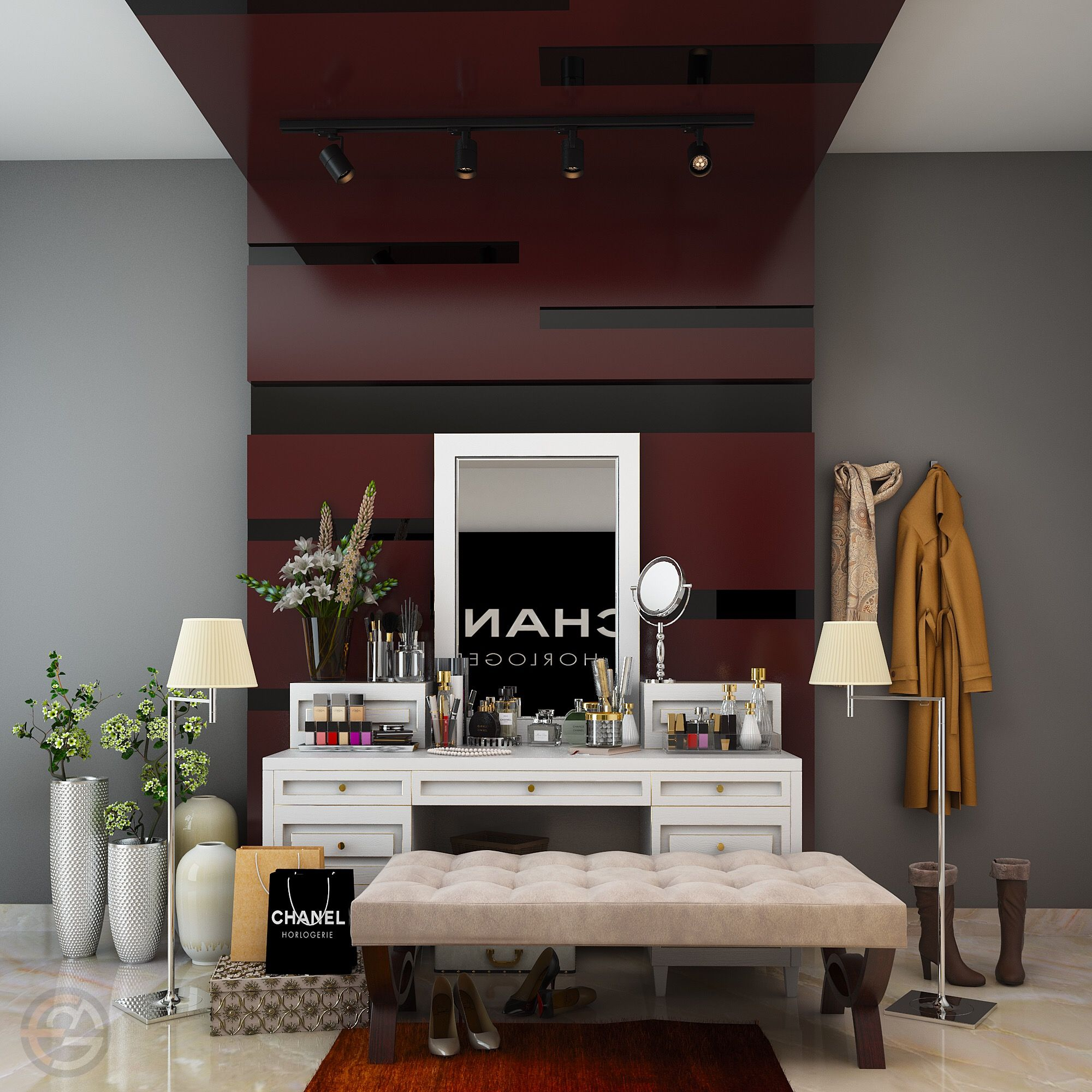 dressing area home beauty shop by egmdesigns