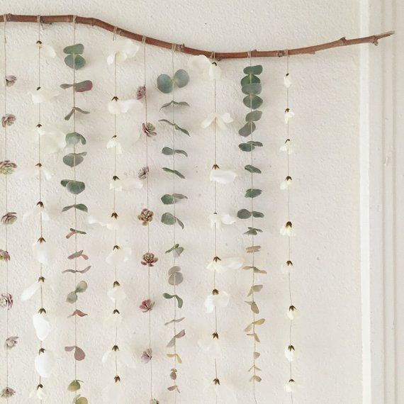 Succulent Garland: Eucalyptus Wall Hanging, Wedding Arch Decor, Eucalyptus Backdrop, Baby Shower Dec