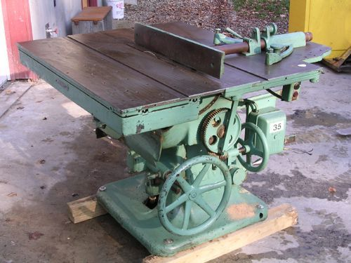 Oliver Machinery Co Model 80 Sliding Table Saw Woodworking