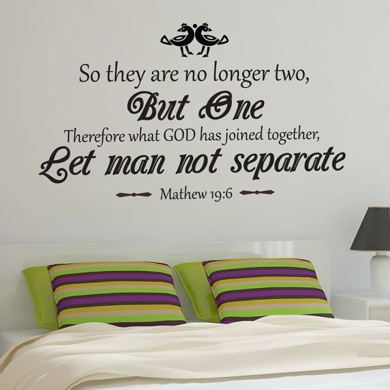 Christian Marriage Wall Decal Matthew 19 6