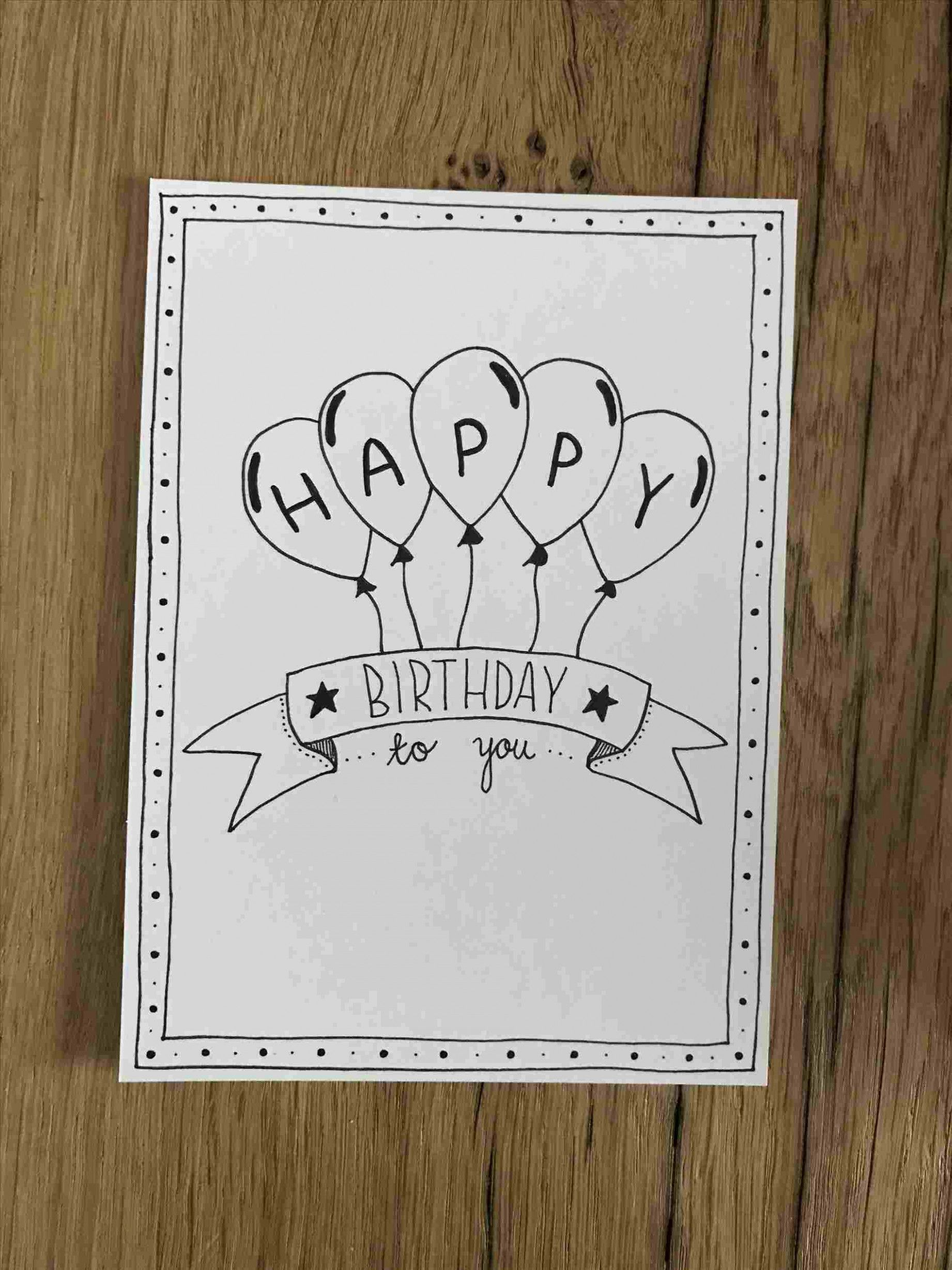 How To Draw A Happy Birthday Card Inspiration In Rhpinterestcom