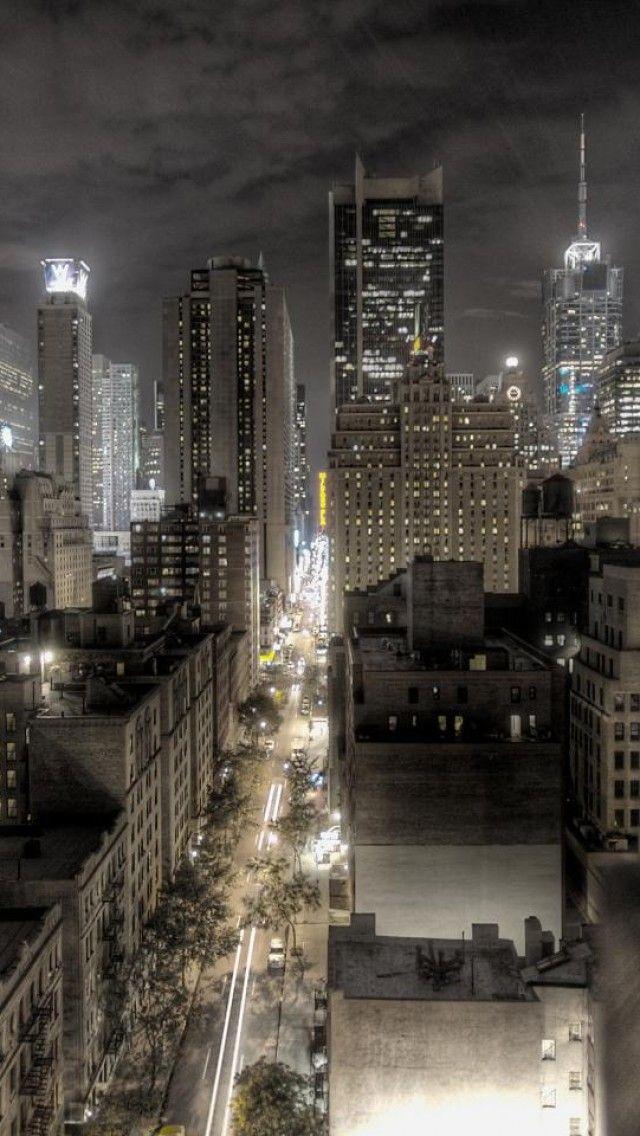 New York, City, Night view