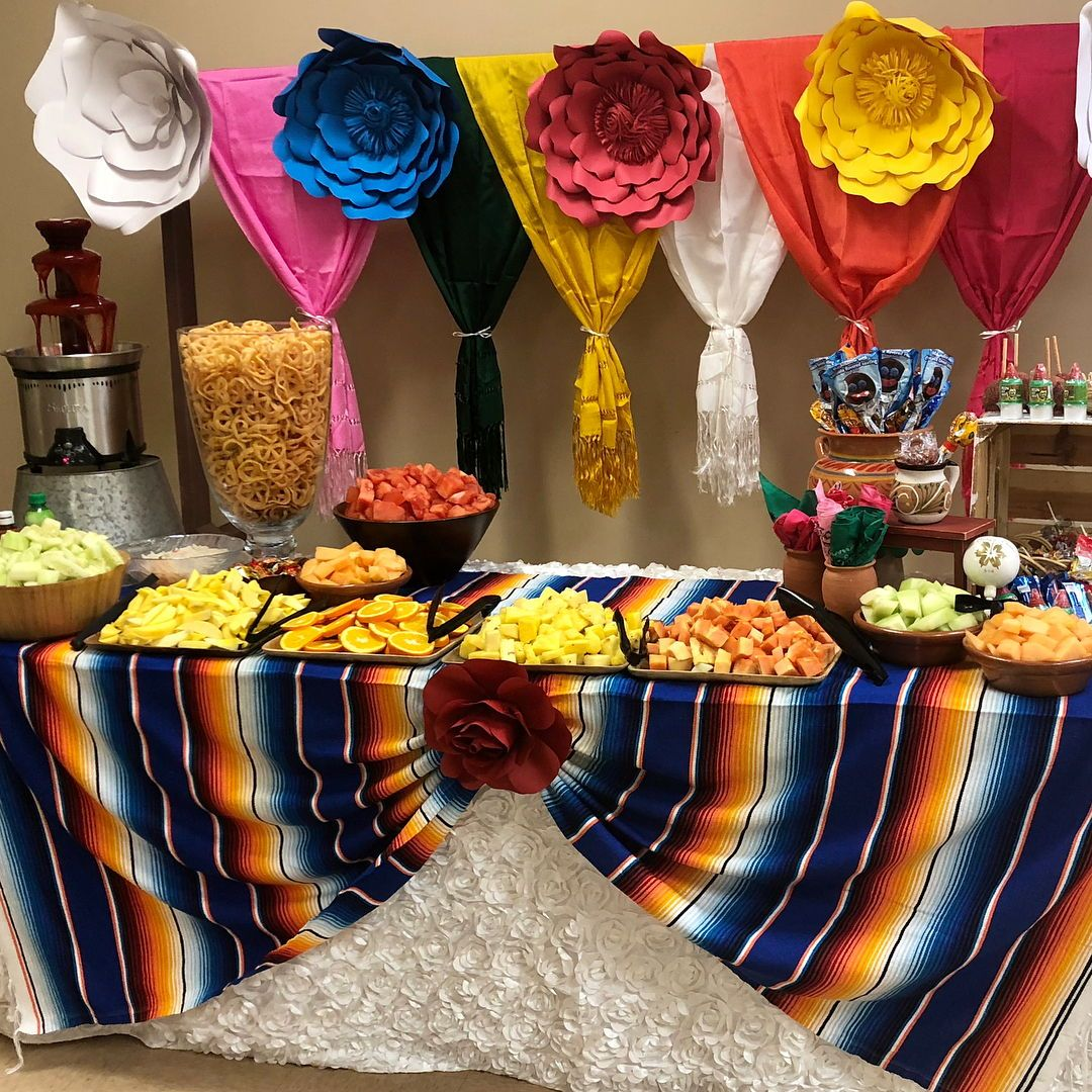 Check Out Our Mexican Themed Quinceanera Article For More Inspiration On Decor Dresses In 2020 Mexican Party Theme Mexican Theme Party Decorations Mexican Candy Table