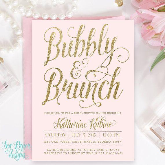 3527e18ff1ff Blush Pink   Gold Glitter Bubbly and Brunch