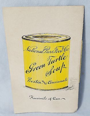 antique rare late 1800 s sales catalog national pure food co turtle soup others no res