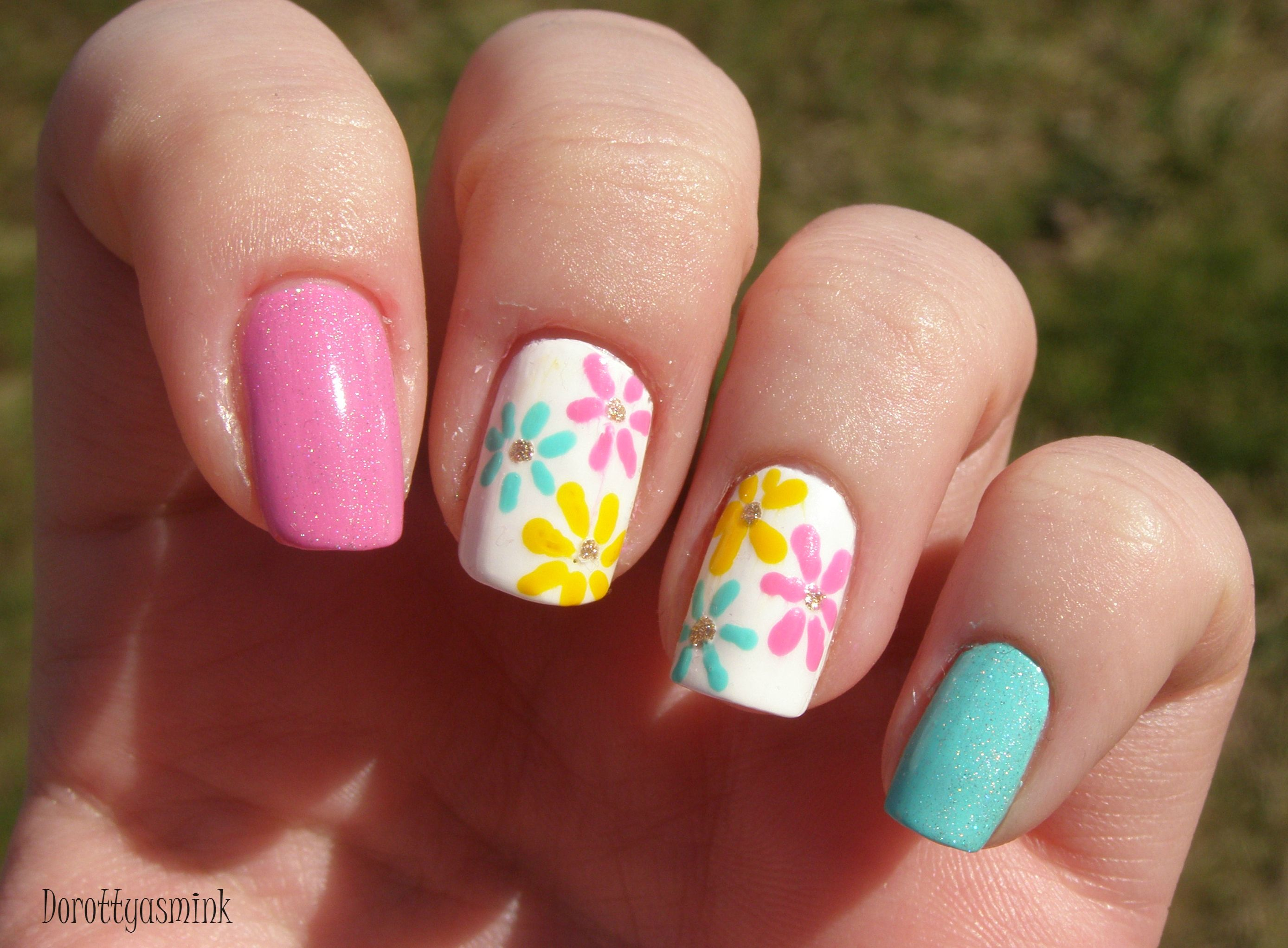 Spring Flowers Nails Nail Inspiration Pinterest Flower Nails