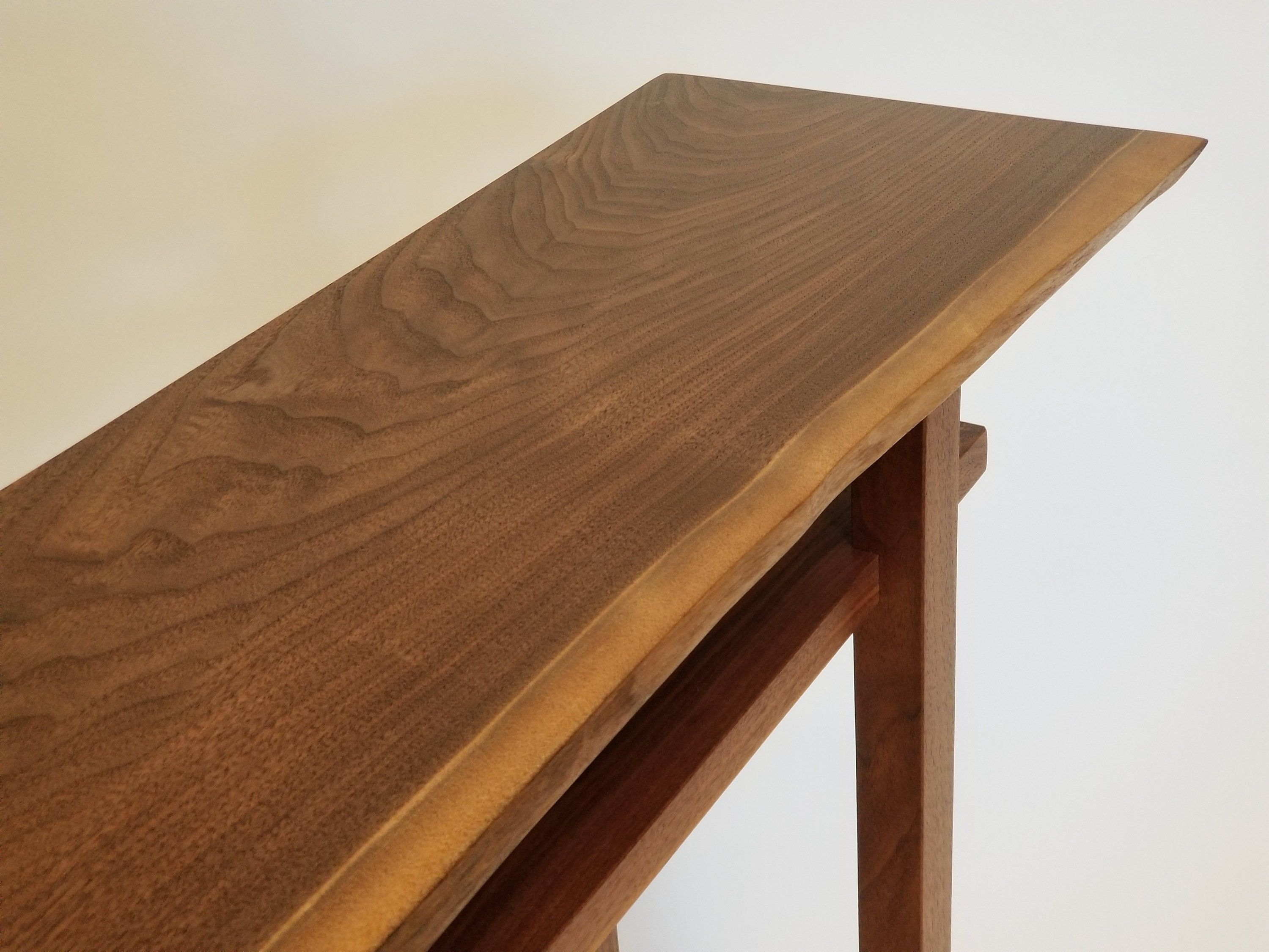 In Stock Minimalist Live Edge Console Table For Narrow Hall