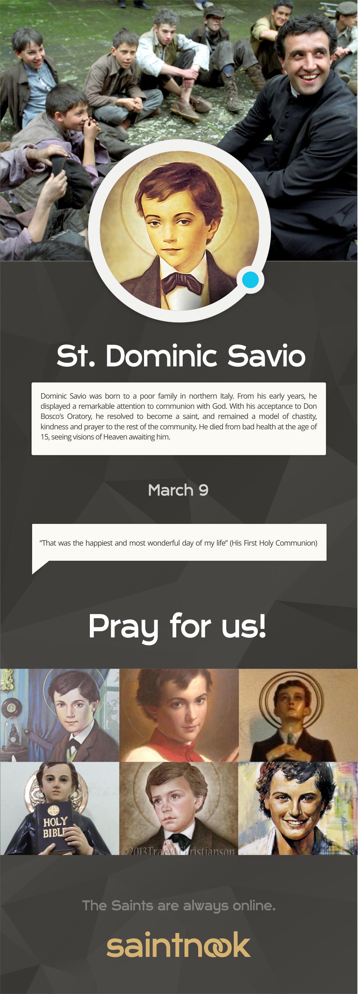 St Dominic Savio | www.saintnook.com/saints/dominicsavio