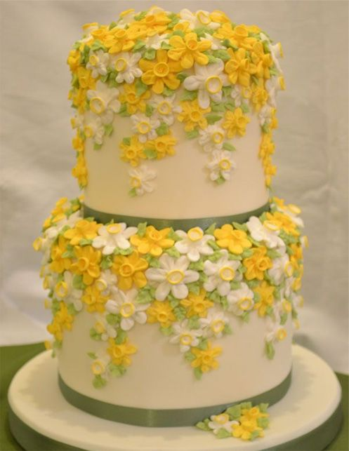 Beautiful Tiny Flower Cake Design Wedding Cakes Pinterest Cake