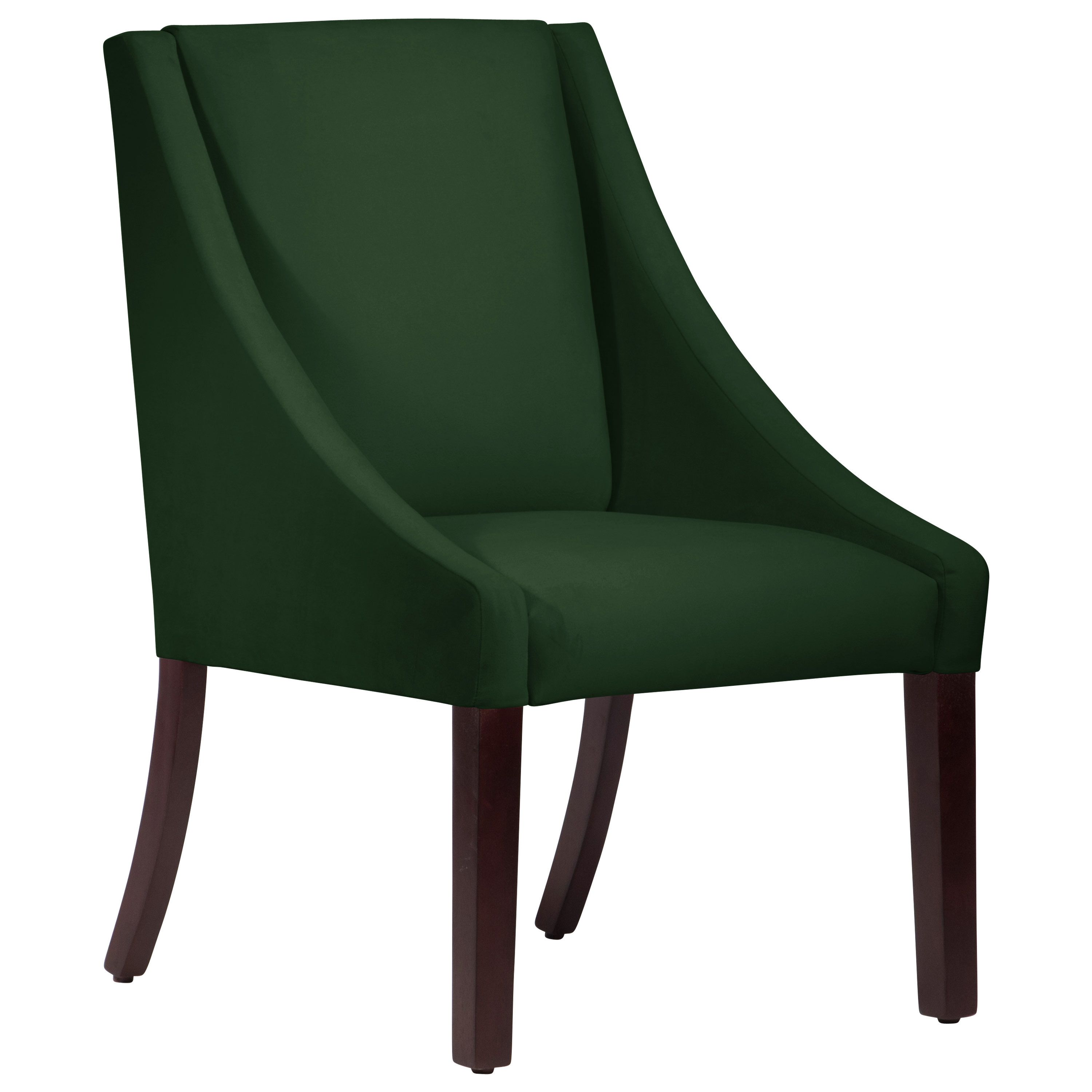 Skyline Furniture Swoop Fauxmo Emerald Upholstered Dining Chair