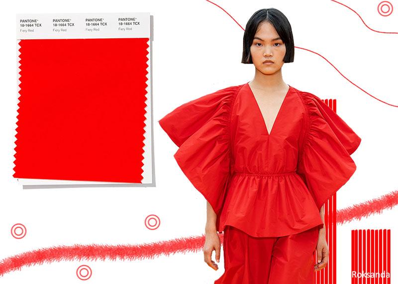 Resultado de imagen de fiery red pantone outfits
