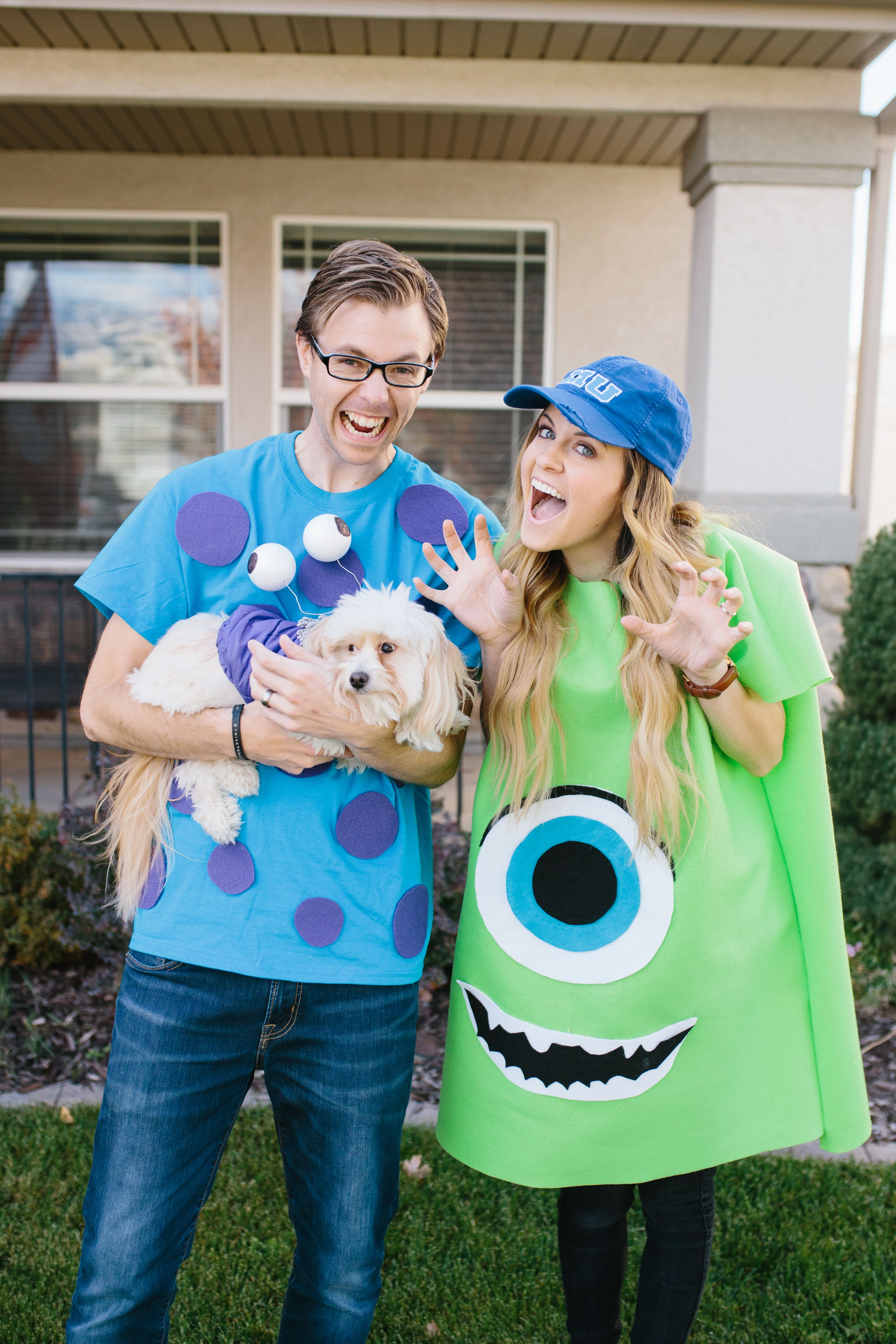 Cheap DIY Couples Costumes For You and Your Pet Cute