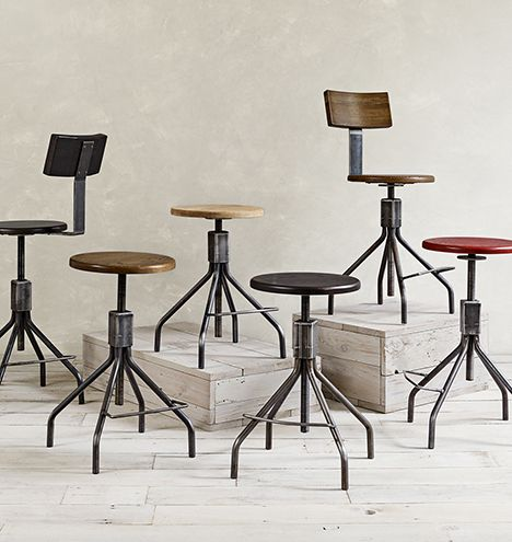 Beautiful Industrial Chairs and Stools