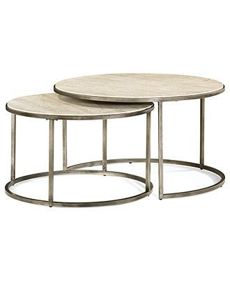 Unique Coffee Table with Nesting Stools