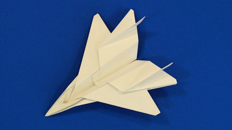 Оригами самолет истребитель f15