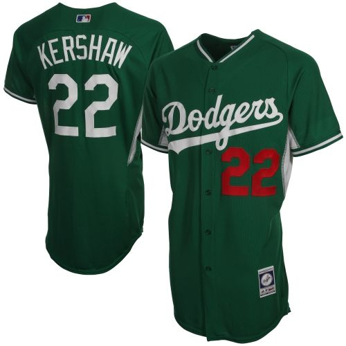 3e257ed1355 Majestic Clayton Kershaw L.A. Dodgers Celtic Cool Base Player Jersey –  Kelly Green